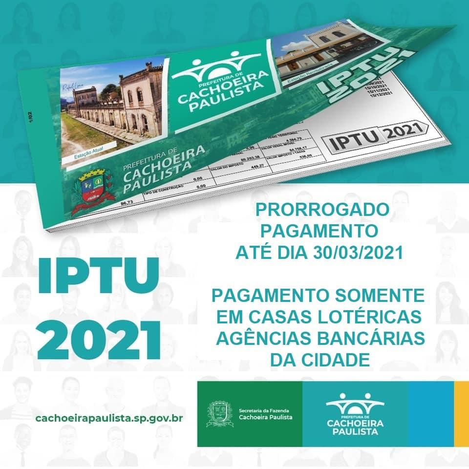 IPTU é prorrogado em Cachoeira Paulista