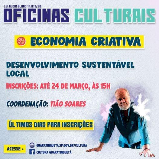 Inscrições para Oficina Cultural se encerram amanhã (24)
