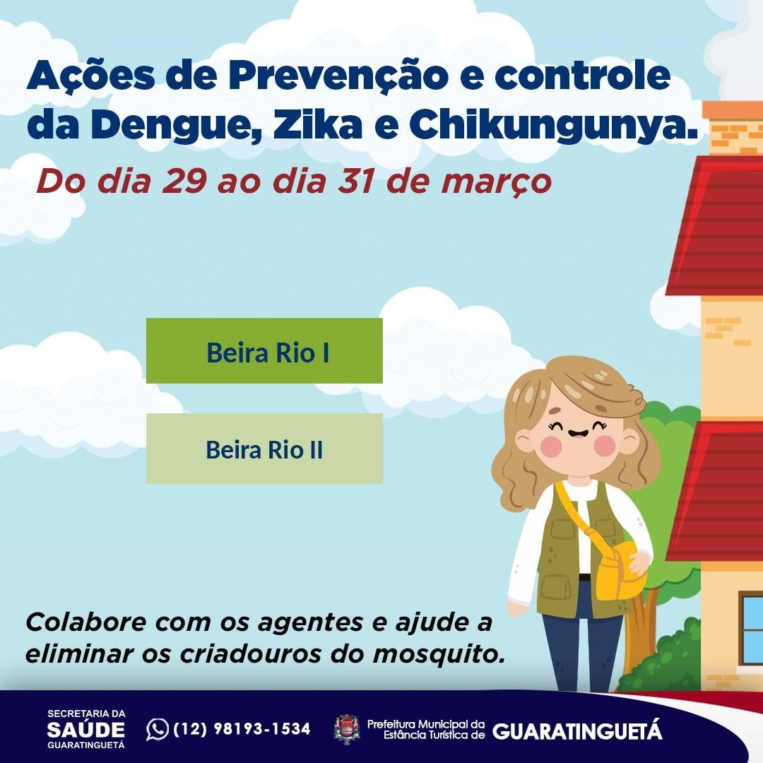 Guaratinguetá divulga agenda de ações semanais para prevenção da Dengue