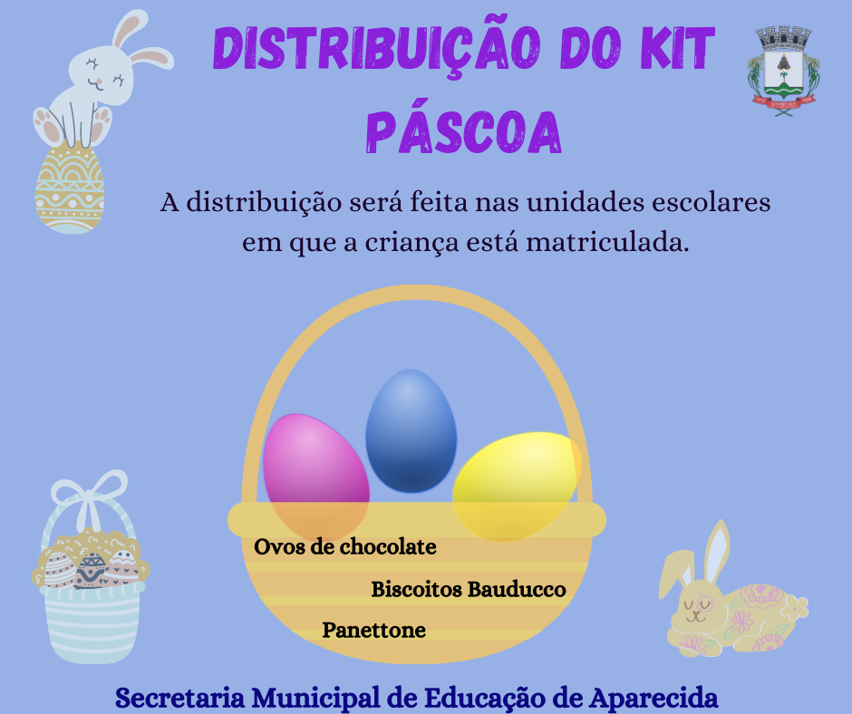 Aparecida divulga distribuição de Kits Páscoa
