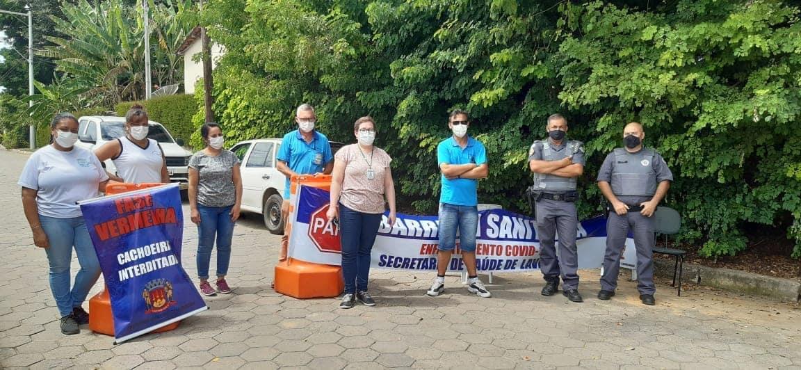 Fiscalização do cumprimento da pandemia em Lavrinhas