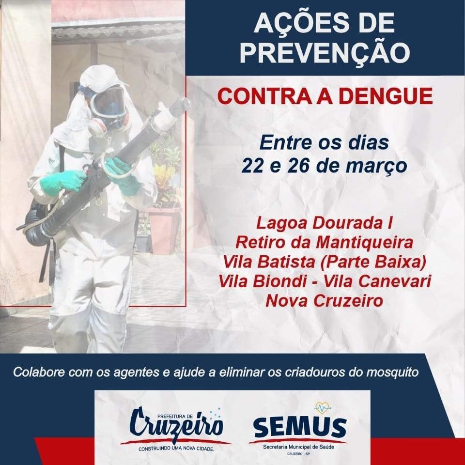 Agentes de Combate às Endemias continuam trabalhando em Cruzeiro