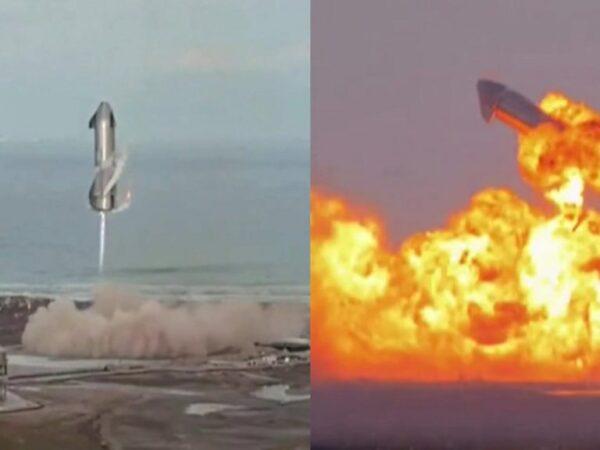 Foguete SN10 explode após pousar com sucesso pela primeira vez