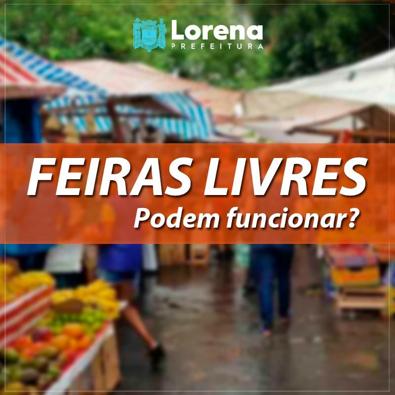 Feiras livres poderão funcionar em Lorena