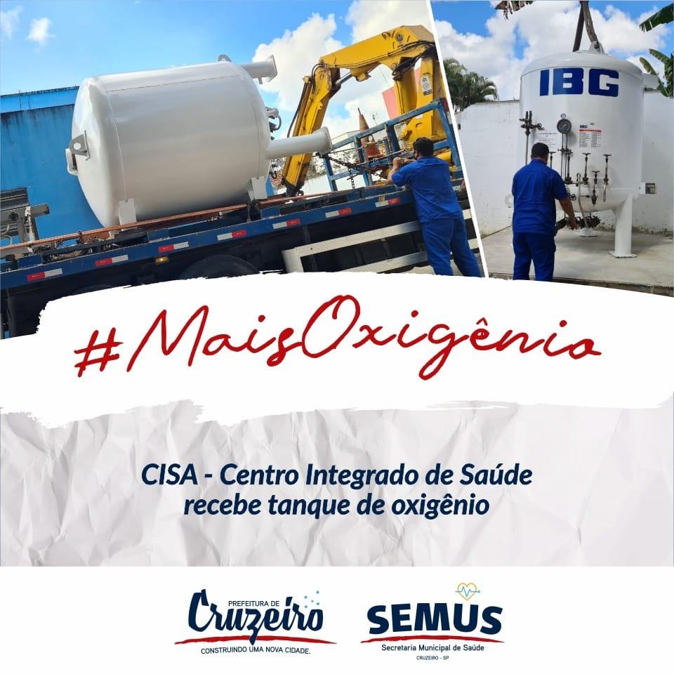 Cruzeiro adquire Tanque Criogênio de Oxigênio para a rede de saúde da cidade