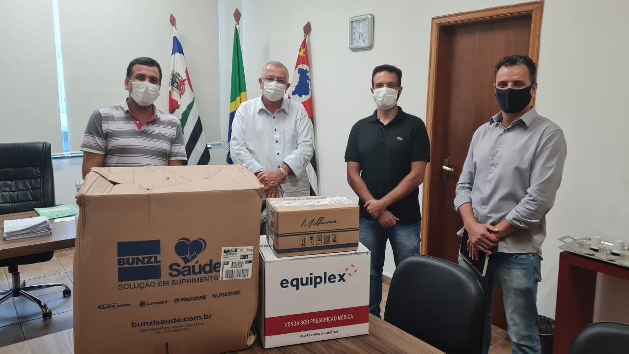 Empresários de Cachoeira Paulista realizam doação para a rede pública de saúde do município