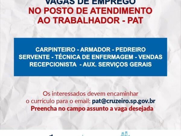 Cruzeiro divulga diversas oportunidades de emprego