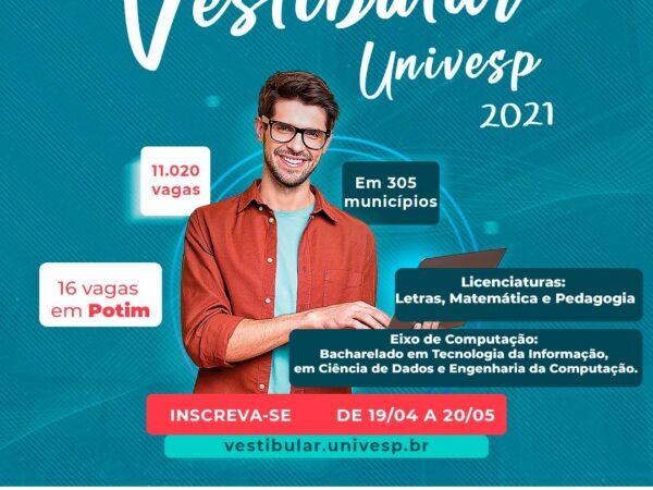 Univesp abre inscrições para o vestibular em Potim