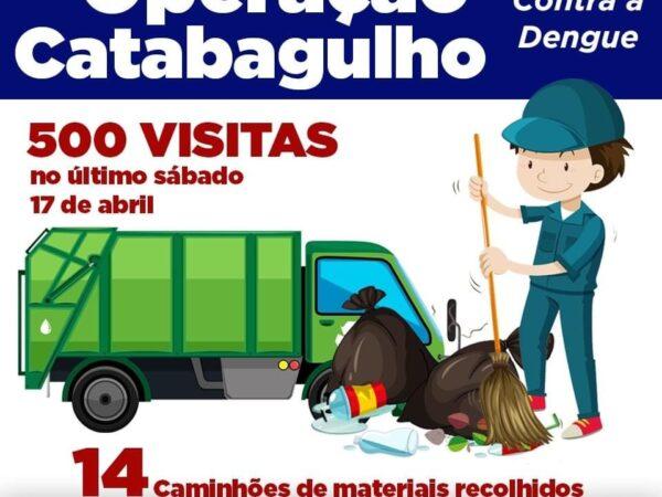 """Operação """"Catabagulho contra a Dengue"""" em Guará"""