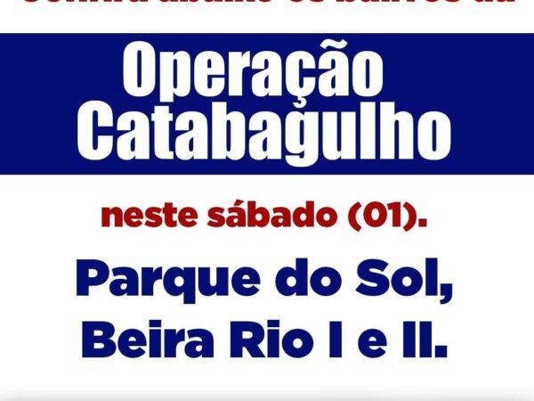 Programação deste sábado da Operação Catabagulho em Guaratinguetá