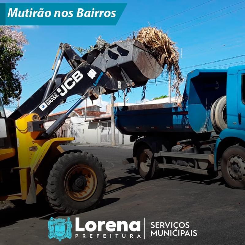 Mutirão de limpeza nos bairros de Lorena