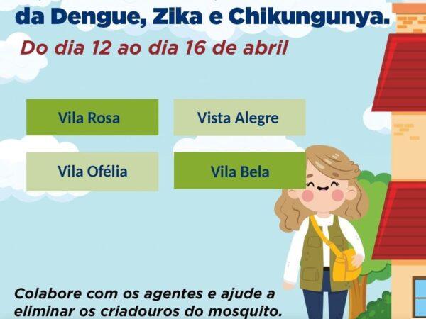 Programação semanal dos agentes de endemia em Guaratinguetá