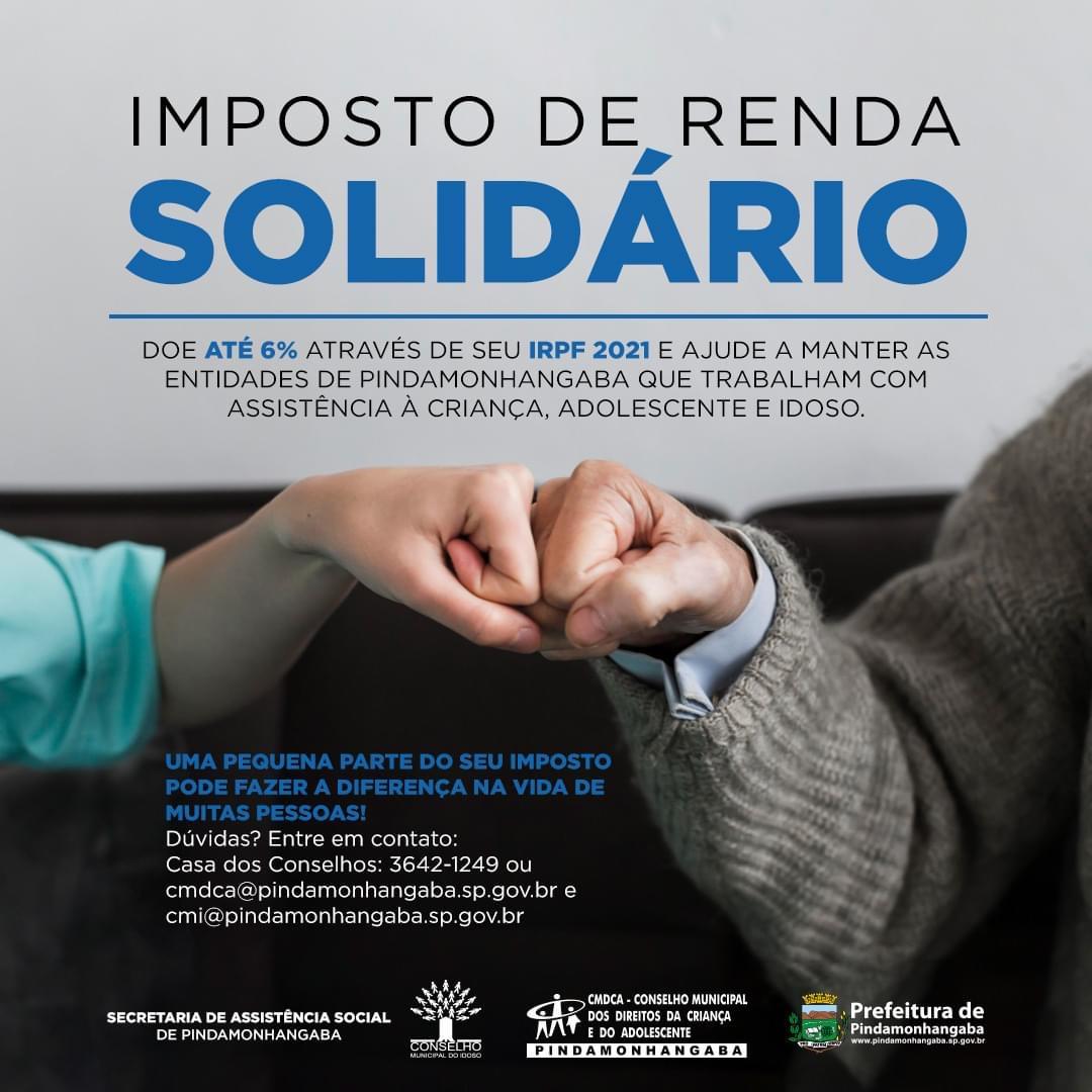 Imposto de Renda Solidário em Pinda
