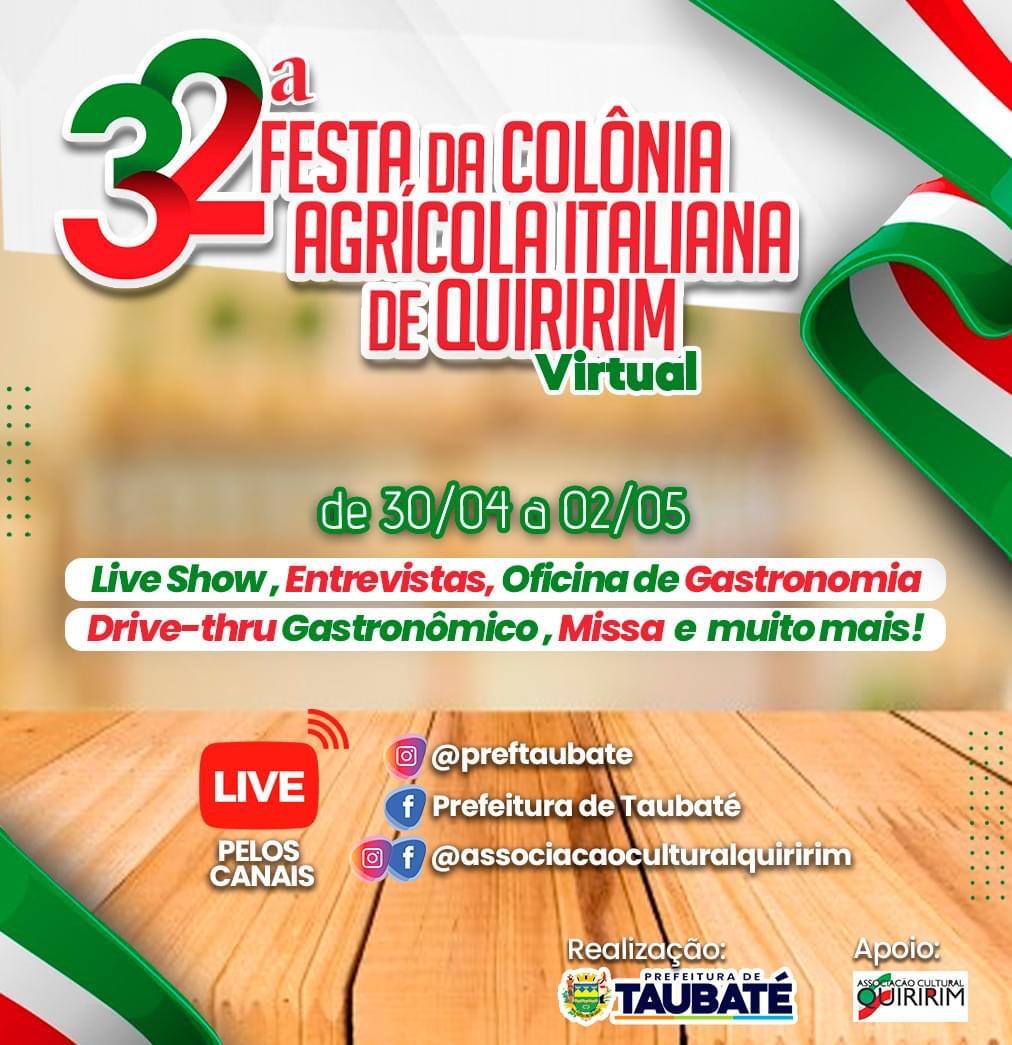32ª edição da famosa Festa Italiana de Quiririm