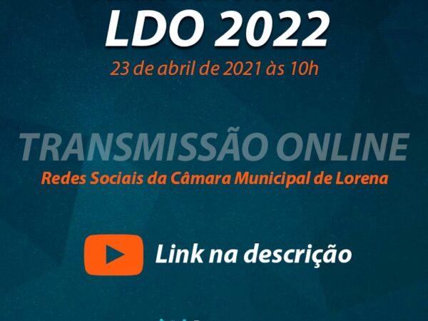 Confira a data da Audiência Pública LDO 2022