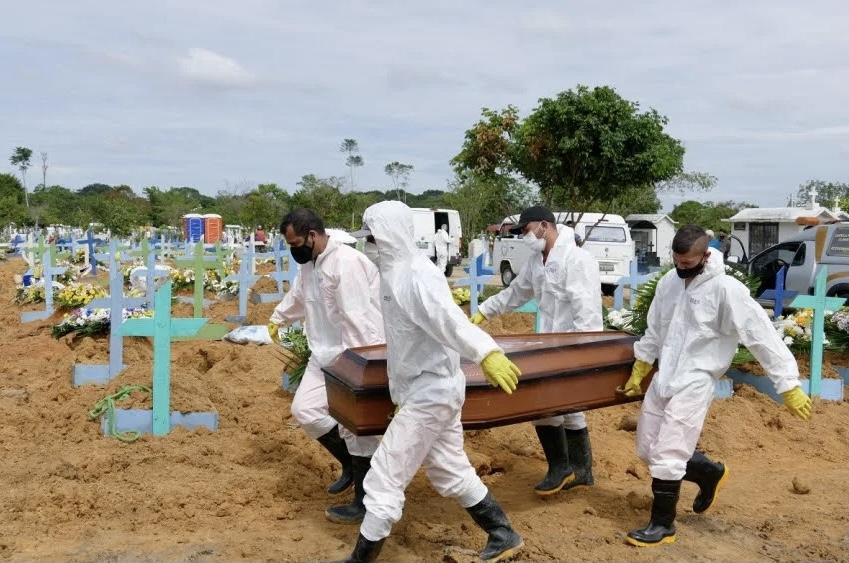 Brasil pode registrar cem mil mortes por Covid-19 em abril