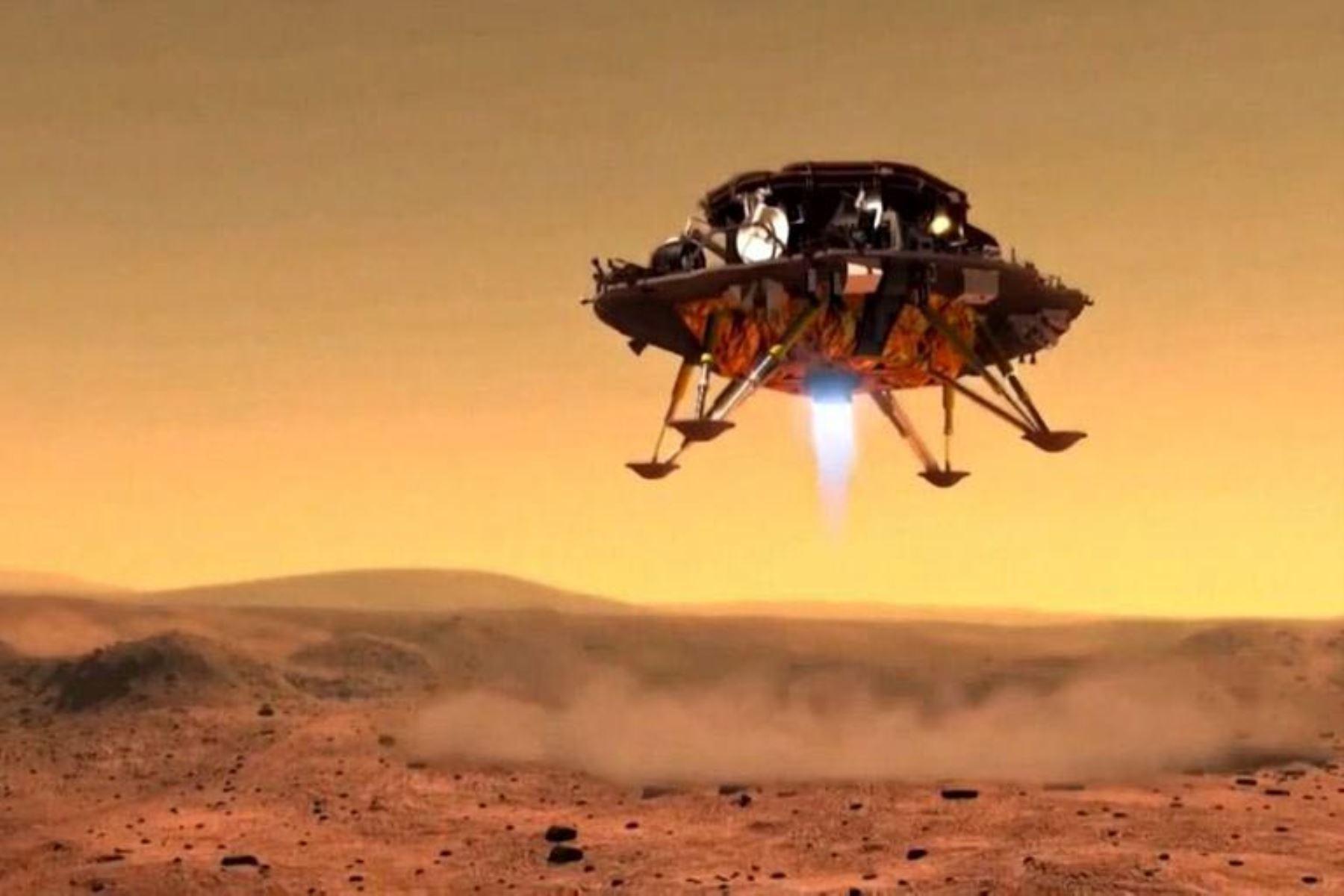 Robô da China pousa em Marte com sucesso