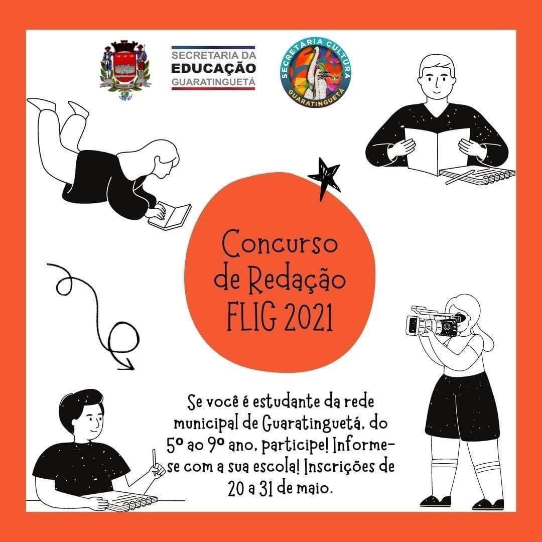 """Em Guará, estão abertas as inscrições para o concurso de redação """"Flig Online 2021"""""""
