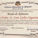 Câmara Municipal de Piquete prepara Moção de Aplausos para o Prefeito de Aparecida