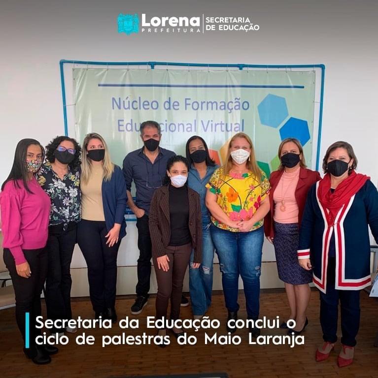 Secretaria da Educação de Lorena conclui palestras do Maio Laranja