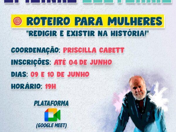 """Em Guará, as inscrições para a Oficina de """"Roteiro para Mulheres"""" estão abertas"""