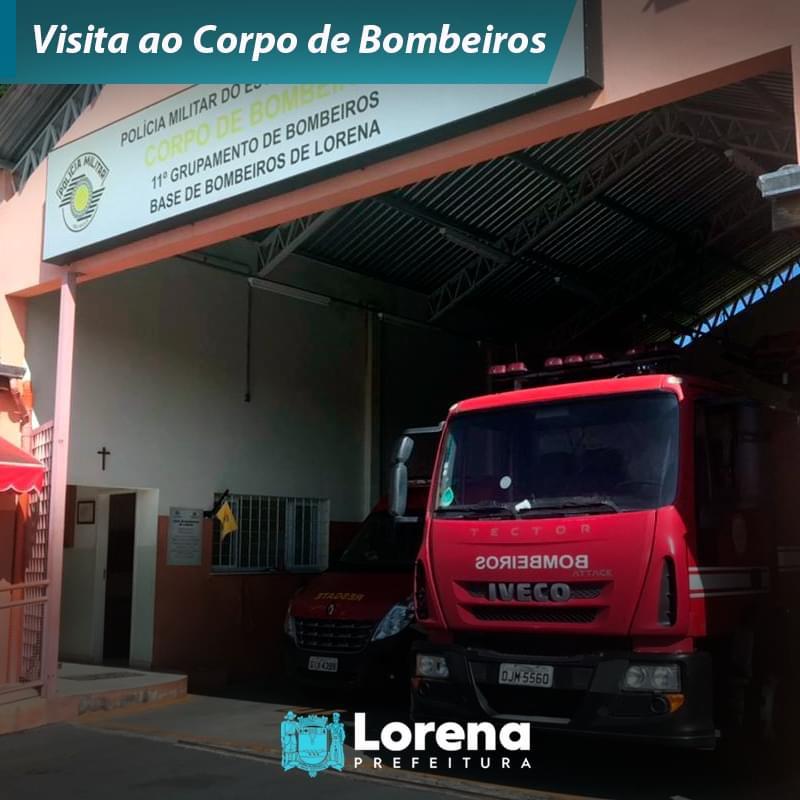 Visita ao Corpo de Bombeiros em Lorena