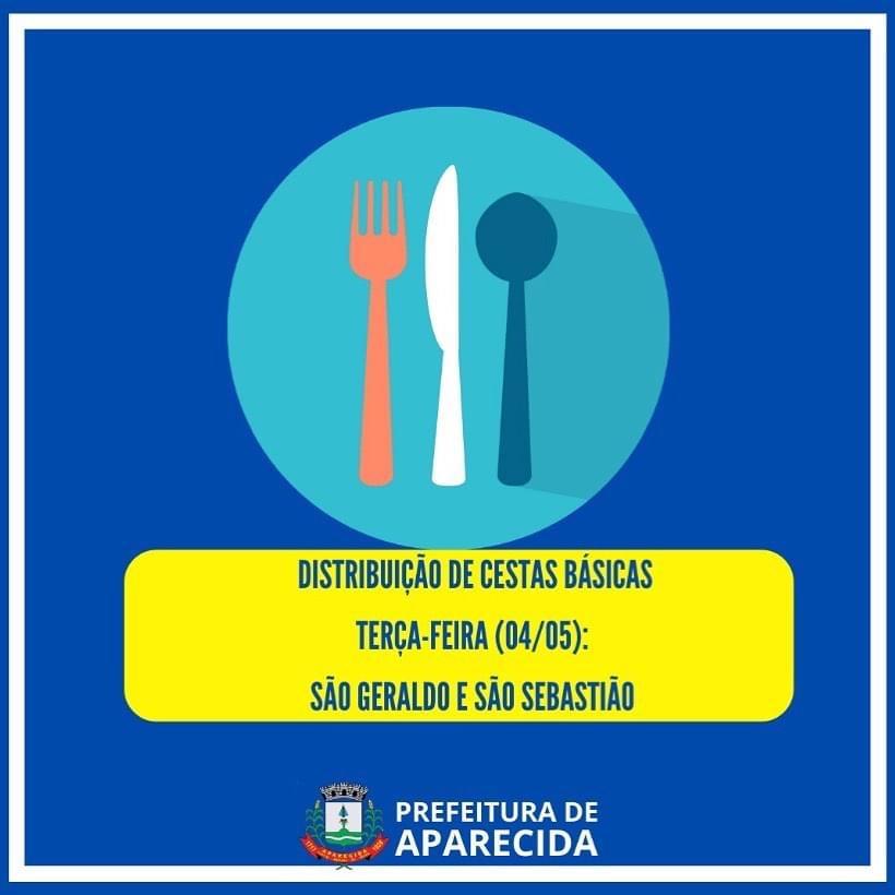 Prefeitura de Aparecida inicia 3ª semana de distribuição de cestas básicas
