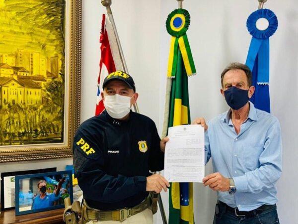 Aparecida assina convênio com Polícia Rodoviária Federal