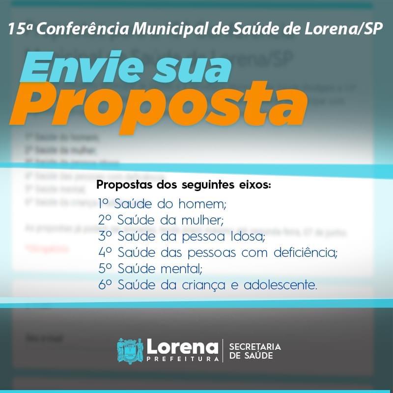 Participe da 15º Conferência Municipal de Saúde de Lorena