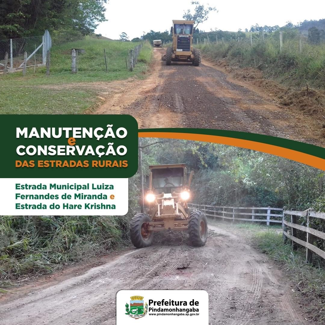 Manutenção das estradas rurais de Pinda
