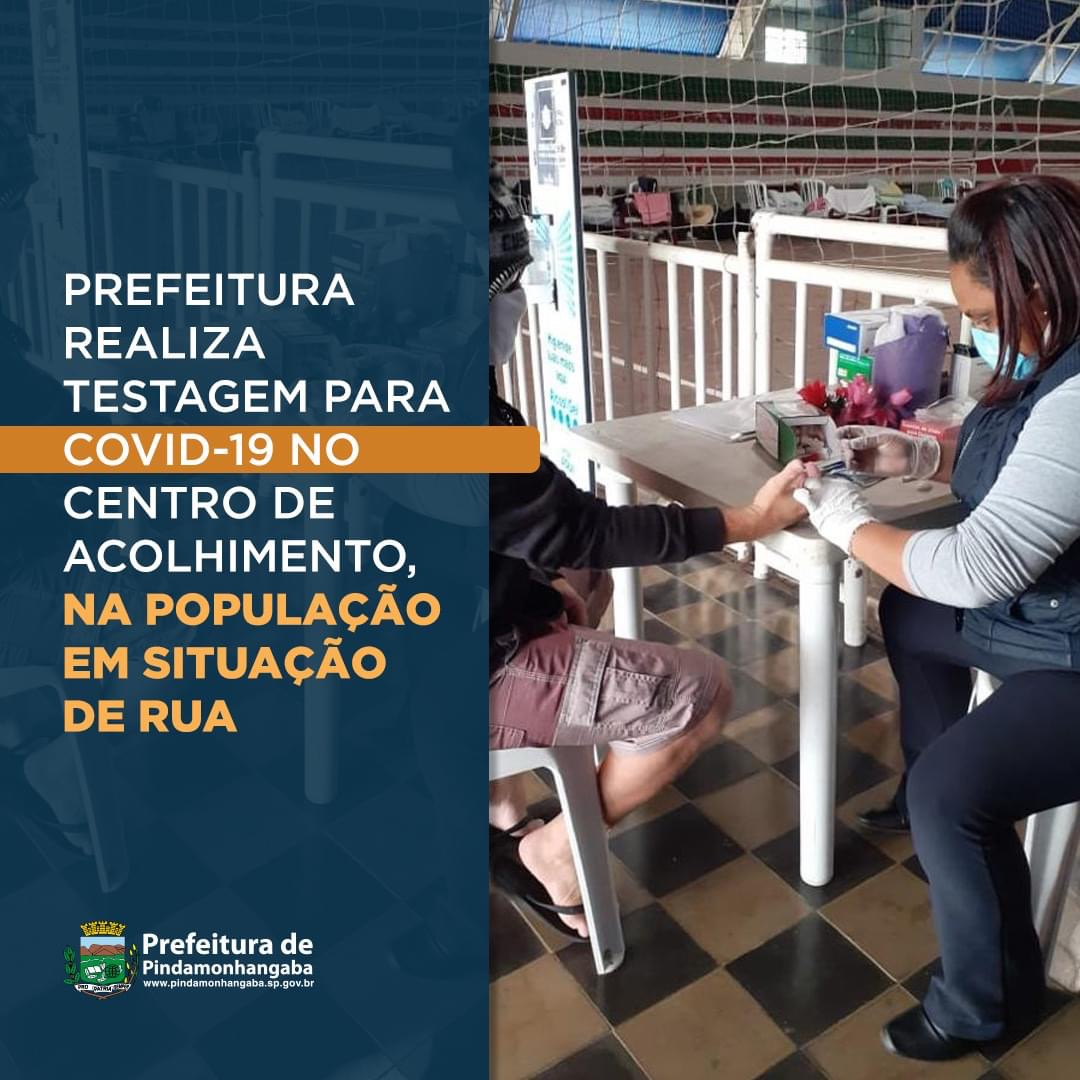 Pinda realiza teste para a Covid-19 nas pessoas em situação de rua