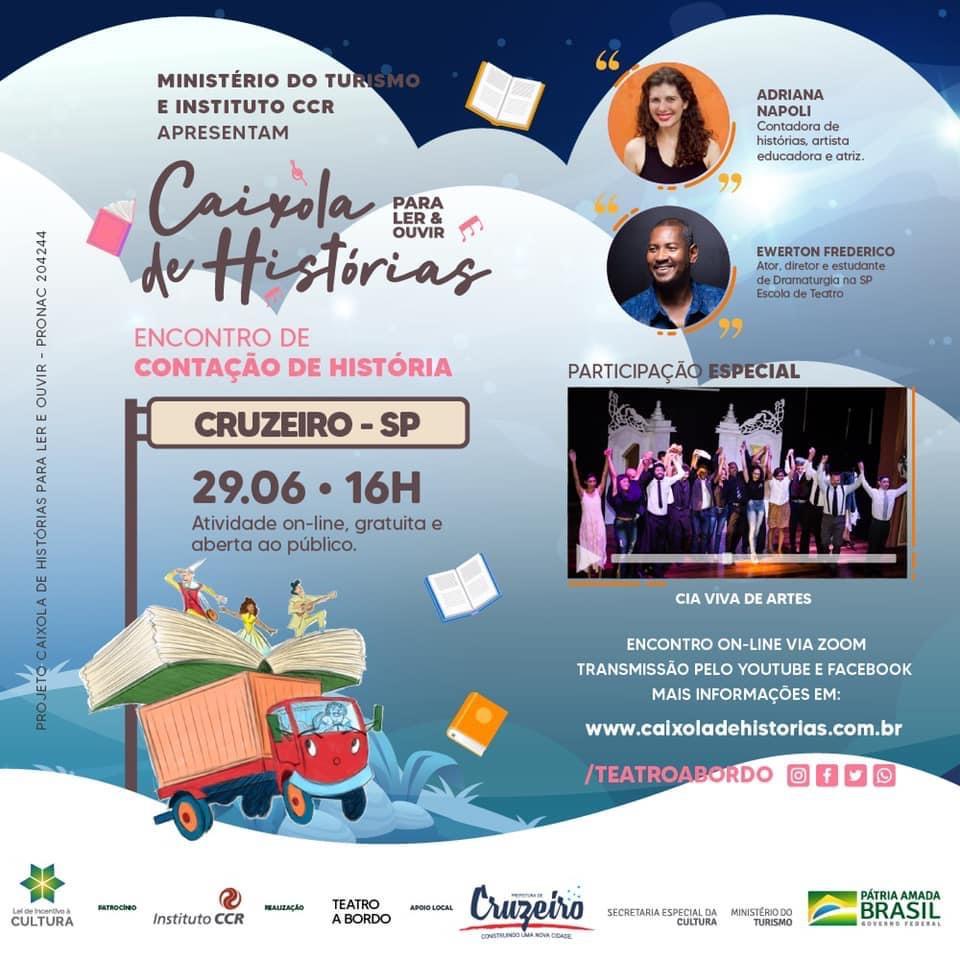 Projeto de contação de histórias acontece hoje em Cruzeiro