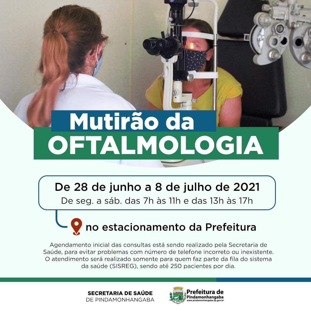 Mutirão da Oftalmologia em Pinda