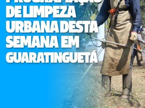 Prefeitura de Guará divulga programação da limpeza urbana desta semana