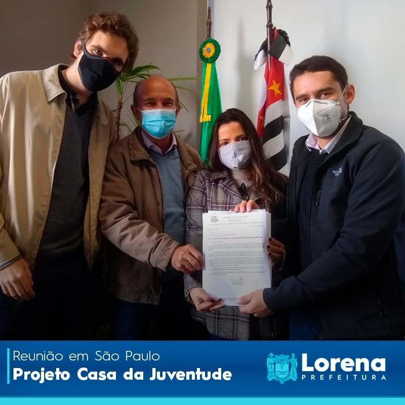 Em reunião, Lorena mostra interesse em receber o Projeto Casa da Juventude