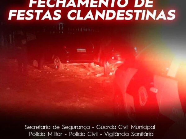 Secretaria de Segurança de Lorena realiza fechamento de festas clandestinas
