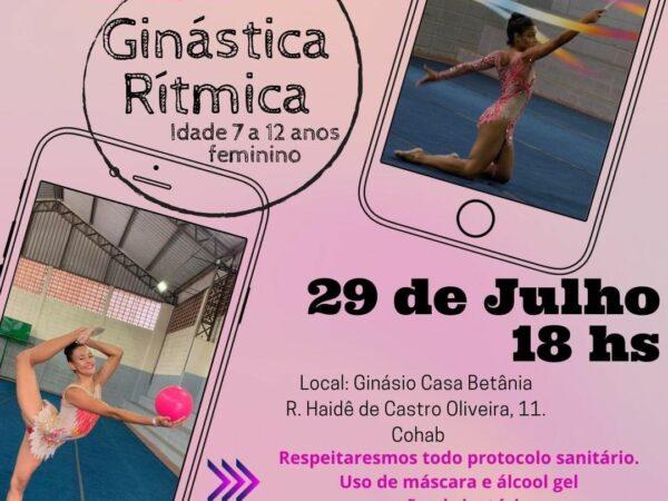 Secretaria de Esportes de Guará realiza seletiva de ginástica rítmica