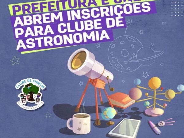 Taubaté e Unesp de Guaratinguetá abrem as inscrições para o Clube de Ciência Astronômica