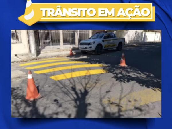 Secretaria de Trânsito e Transportes de Lorena realiza melhorias nas sinalizações da cidade