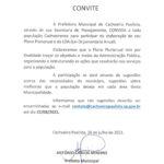 População de Cachoeira é convidada a participar da elaboração do Plano Plurianual e da Lei Orçamentária Anual