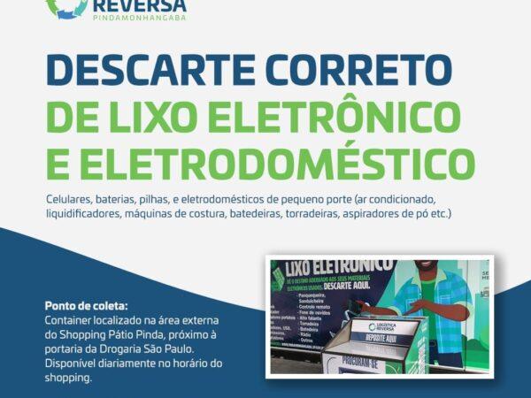 Pinda disponibiliza container para descarte de lixo eletrônico